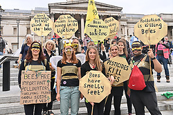 © Licensed to London News Pictures. 04/09/2021. London, UK. Protesters take part in the final day of actions of EXTINCTION REBELLION'S THE IMPOSSIBLE REBELLION demonstration in Central London. Photo credit: Ray Tang/LNP