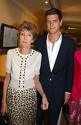 LADY JANE SPENCER-CHURCHILL and her son the HON.ALEXANDER SPENCER-CHURCHILL at auctioneers Sotheby's Summer party held at their showrooms in 34-35 New Bond Street, London W1 on 6th June 2005.<br /><br />NON EXCLUSIVE - WORLD RIGHTS