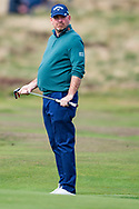 Thomas Bjorn of Denmark  watches his putt during the British Masters 2018 at Walton Heath Golf Course, Walton On the Hill, Surrey on 12 October 2018. Picture by Martin Cole.