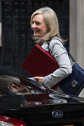 Environment Food and Rural Affairs Secretary Elizabeth Truss arrives at Prime Minister David Cameron's final cabinet meeting following Theresa May's anticipated takeover as Leader of the Conservative Party and Prime Minister
