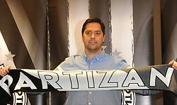 Saso Filipovski introduced as new head coach of KK Partizan Belgrade, on November 6, 2020 at Crowne Plaza Hotel, in Belgrade, Serbia. Photo by Nebojsa Parausic / Sportida