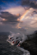A palette of colors...created by light, lava and liquid, in an extraordinary scene along the Kalapana coastline, on the island of Hawai'i.