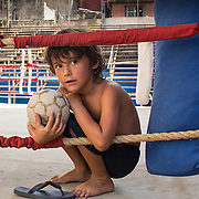 """Havana, Cuba boxing gym with little boy playing.<br /> <br /> For all details about sizes, paper and pricing starting at $85, click """"Add to Cart"""" below."""