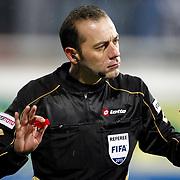 Referee's Cuneyt Cakir during their Turkish superleague soccer match Besiktas between Kasimpasa at the BJK Inonu Stadium in Istanbul Turkey on Saturday, 16 March 2013. Photo by Aykut AKICI/TURKPIX