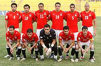 Photo: Steve Bond/Richard Lane Photography.<br />Egypt v Zambia. Africa Cup of Nations. 30/01/2008. Egypt line up