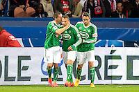 Joie Saint Etienne - Romain HAMOUMA / Yohan MOLLO - 08.04.2015 - Paris Saint Germain / Saint Etienne - 1/2Finale Coupe de France<br /> Photo : Andre Ferreira / Icon Sport
