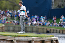 March 16, 2019 - Ponte Vedra Beach, FL, U.S. - PONTE VEDRA BEACH, FL - MARCH 16: Ollie Schniederjans of the United States on the 17th hole during the third round of THE PLAYERS Championship on March 16, 2019 on the Stadium Course at TPC Sawgrass in Ponte Vedra Beach, Fl. (Photo by David Rosenblum/Icon Sportswire) (Credit Image: © David Rosenblum/Icon SMI via ZUMA Press)