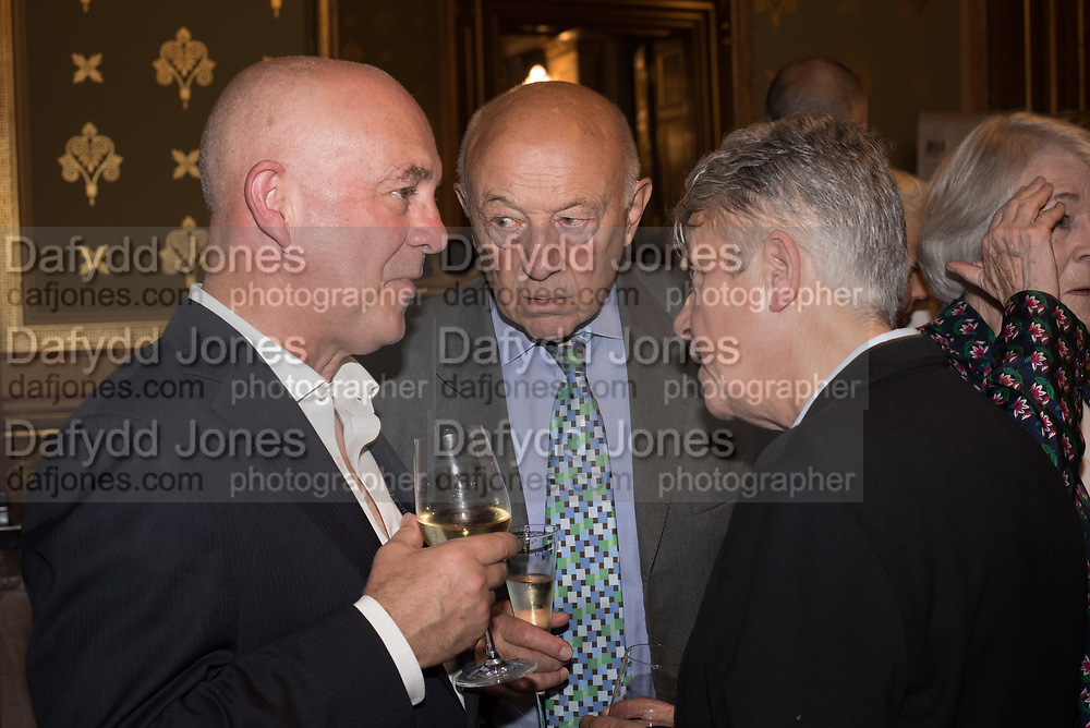 BEN LANGLANDS; SIR JOHN TUSA; NIKKI BELL, TenTen. The Government Art Collection/Outset Annual Award. Champagne reception to announce the inaugural artist Hurvin Anderson and unveil his 2018 print. Locarno Suite, Foreign and Commonwealth Office. SW1. 2 October 2018