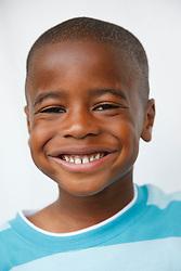 Portrait of black boy smiling