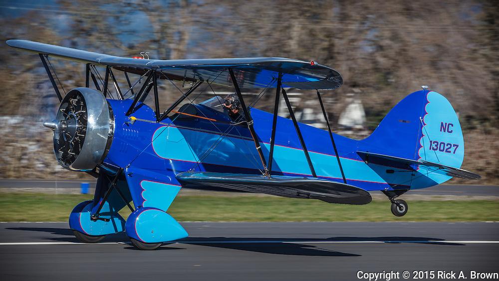 1932 Waco UBF-5 taking off at WAAAM.