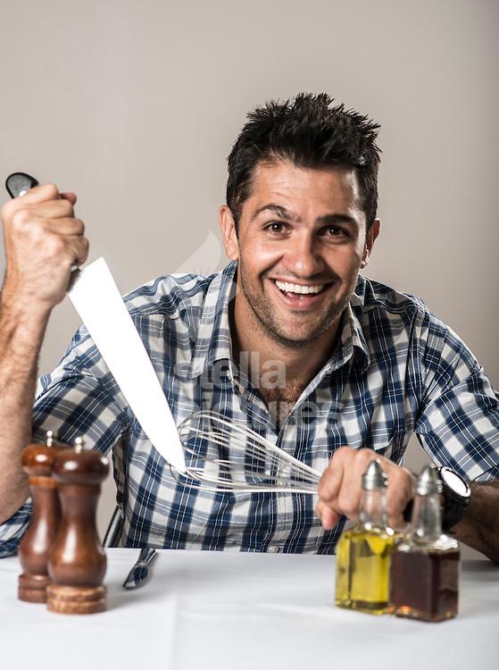 Celebrity chef Kiran Jethwa.<br /> Picture by Daniel Hambury/Stella Pictures Ltd +44 7813 022858<br /> 13/04/2016