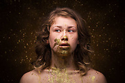 San Francisco fashion and beauty photographer Raymond Rudolph creates a series of photos called Splatter mixing various models and substances