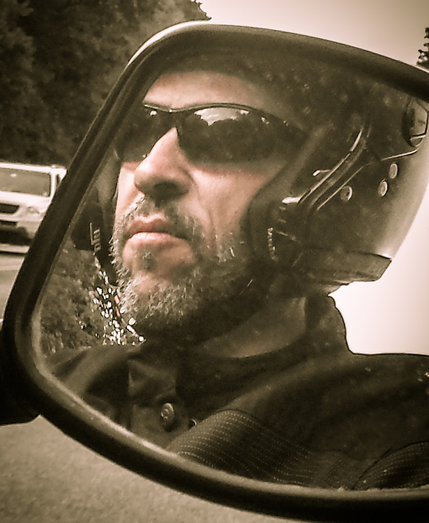 Photo by Anne-Marie when I'm driving the motorcycle