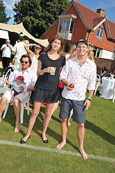 PRINCESS FLORENCE VON PREUSSEN and TYRONE WOOD at a cricket match to in aid of CARE - Corfu Animal Rescue Establishment held at Hawkley Cricket Club, Hawkley, Hampshire on 8th September 2012.