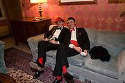 DANCREDI ALEMAGNE; FRANCESCO FERRI, Francesca Bortolotto Possati, Alessandro and Olimpia host Carnevale 2009. Venetian Red Passion. Palazzo Mocenigo. Venice. February 14 2009.  *** Local Caption *** -DO NOT ARCHIVE -Copyright Photograph by Dafydd Jones. 248 Clapham Rd. London SW9 0PZ. Tel 0207 820 0771. www.dafjones.com<br /> DANCREDI ALEMAGNE; FRANCESCO FERRI, Francesca Bortolotto Possati, Alessandro and Olimpia host Carnevale 2009. Venetian Red Passion. Palazzo Mocenigo. Venice. February 14 2009.
