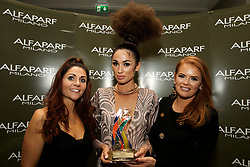 LONG HAIR UP<br /> Second Place<br /> <br /> Nathalie Kearney, ALFAPARF MILANO IRELAND<br /> Janice  Mc Carthy  <br /> Lisa Madden - Model