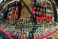 Handicrafts at street market in Taumadhi Square, Bhaktapur, Kathmandu Valley, Nepal.