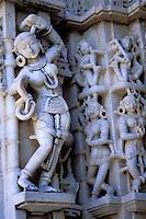 Inde. Rajasthan. Ranakpur. Temple Jaïn de Parshvanatha. // Inde. Rajasthan. Ranakpur. Jain temple of Parshvanatha.