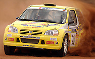 (C) Joel Strickland Photographics.Motorsport-Rally/2003 Rally of Canberra .Canberra, ACT, Australia.Day 2 - 26th of April 2003.Nikolaus Schelle & Anthony McLoughlin on SS10
