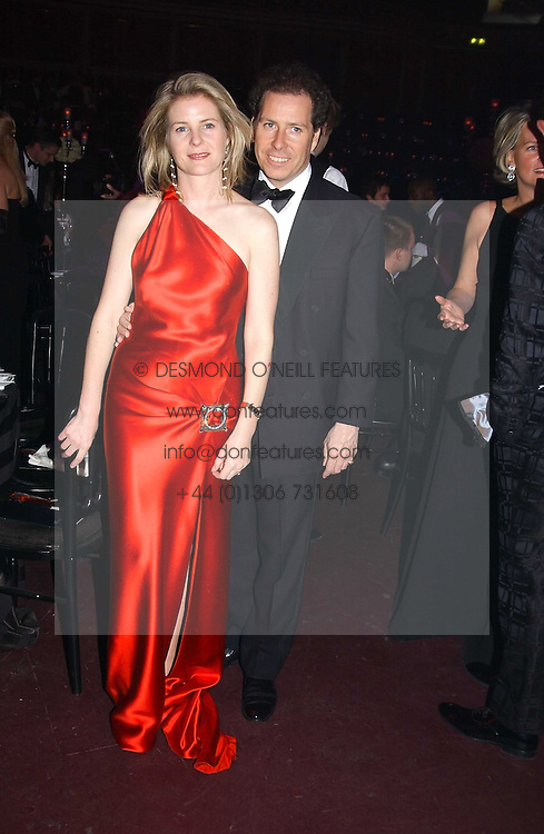 VISCOUNT & VISCOUNTESS LINLEY at the Russian Rhapsody Gala dinner concert held at The Royal Albert Hall, London on 11th April 2005.  <br /><br />NON EXCLUSIVE - WORLD RIGHTS