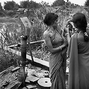 Vaccinating a child  at a village on the flood plains of the Kosi river near Kusheshwar Asthan (E), Bihar.