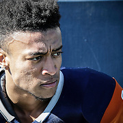 The Orange Coast College Pirates football teams sophomore defensive back (8) gets mentally prepared before the Pirates play against The Fullerton College Hornets. The Hornets would win 35-14  away in Huntington Beach Calif., on November 6th 2016. Photo By: Daniel Bowyer / Sports Shooter Academy