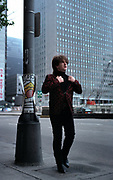 Photograph of U2 Bono on USA back at the Hotel - 1981 Chicago  USA