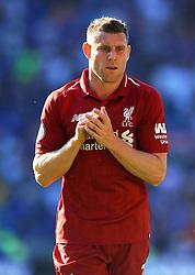 James Milner of Liverpool applauds fans - Mandatory by-line: Nizaam Jones/JMP - 21/04/2019 -  FOOTBALL - Cardiff City Stadium - Cardiff, Wales -  Cardiff City v Liverpool - Premier League