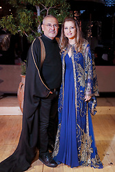 Elie Saab and wife Claudine at their son Elie Saab Jr and Christina Mourad wedding, in Faqra, Lebanon on July 18, 2019. The wedding is among the most incredible weddings of 2019, included four wedding outfits, over a million sequins and 1,200 guest. Photo by Balkis Press/ABACAPRESS.COM