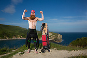 Sean Conway - On The Edge - Finlae at Lulworth Cove, Dorset. Sean Conway portrait