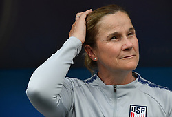USA's head coach Jill Ellis during the 2019 FIFA Women's World Cup Round Of 16 match Spain v USA at Stade Auguste Delaune on June 24, 2019 in Reims, France. USA won 2-1 reaching the quarter-finals. Photo by Christian Liewig/ABACAPRESS.COM