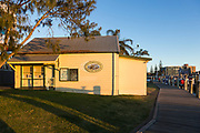 Mid North Coast Maritime Museum in golden light, the waterfront, Port Macquarie, NSW.