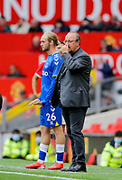 Football - 2021 / 2022 Pre-Season Friendly - Manchester United vs Everton - Old Trafford - Saturday 7th August 2021<br /> <br /> Everton manager Rafa Benitez waits to bring on Tom Davies, at Old Trafford.<br /> <br /> COLORSPORT/ALAN MARTIN