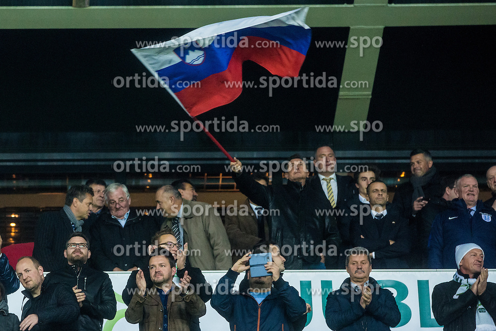 Borut Pahor president of republic Slovenia during football match between National teams of Slovenia and England in Round #3 of FIFA World Cup Russia 2018 qualifications in Group F, on October 11, 2016 in SRC Stozice, Ljubljana, Slovenia. Photo by Grega Valancic / Sportida