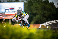 #300 (ALVES DOS SANTOS Julia) BRA Crisp Nologo at Round 7 of the 2019 UCI BMX Supercross World Cup in Rock Hill, USA