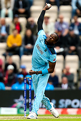 Jofra Archer of England - Mandatory by-line: Robbie Stephenson/JMP - 14/06/2019 - FOOTBALL - Hampshire Bowl - Southampton, England - England v West Indies - ICC Cricket World Cup 2019 group