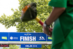The finish line and a flower bouquet during 3rd Stage of 25th Tour de Slovenie 2018 cycling race between Slovenske Konjice and Celje (175,7 km), on June 15, 2018 in  Slovenia. Photo by Matic Klansek Velej / Sportida