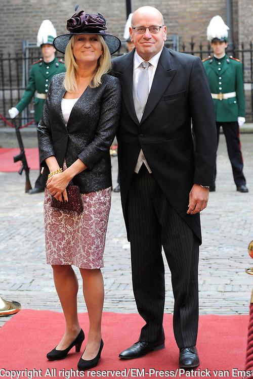Prinsjesdag 2014 - Aankomst Politici op het Binnenhof.<br /> <br /> Op de foto:   Fred Teeven - Staatssecretaris van Veiligheid en Justitie