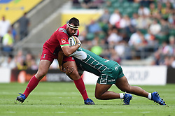 Will Collier of Harlequins is tackled - Mandatory byline: Patrick Khachfe/JMP - 07966 386802 - 02/09/2017 - RUGBY UNION - Twickenham Stadium - London, England - London Irish v Harlequins - Aviva Premiership