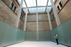 New platform built in the Egyptian Courtyard of the renovated and newly reopened Neues Museum in Berlin 2009 Architect David Chipperfield