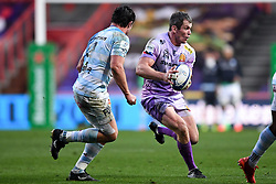 Ian Whitten of Exeter Chiefs is marked by Henry Chavancy of Racing 92  - Mandatory by-line: Ryan Hiscott/JMP - 17/10/2020 - RUGBY - Ashton Gate Stadium - Bristol, England - Exeter Chiefs v Racing 92 - Heineken Champions Cup Final