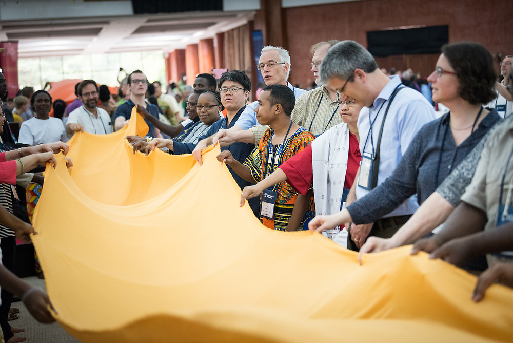 """12 March 2018, Arusha, Tanzania: Morning prayers. From 8-13 March 2018, the World Council of Churches organizes the Conference on World Mission and Evangelism in Arusha, Tanzania. The conference is themed """"Moving in the Spirit: Called to Transforming Discipleship"""", and is part of a long tradition of similar conferences, organized every decade."""