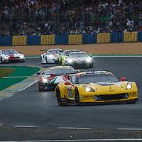 #64, Corvette Racing-GM, Chevrolet Corvette C7.R, LMGTE Pro, driven by: Oliver Gavin, Tom Milner, Marcel Fassler, on 15/06/2019 at the Le Mans 24H 2019