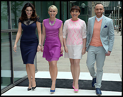 The Judges arrive for Lorraine's High Street Fashion Awards, L to r Kelly Brook, Ali Hall, Lorriane Kelly, Mark Heyes, Wednesday, 22nd May 2013,Picture by Andrew Parsons / i-Images