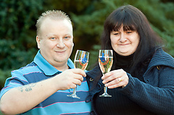 Grimsby Couple Sue and Lee Mullen win £4,873,639.80 EuroMillions Jackpot.08 February 2011.Images © Paul David Drabble