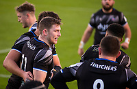 Bath Rugby's Ruaridh McConnochie celebrates scoring his sides first try <br /> <br /> Photographer Bob Bradford/CameraSport<br /> <br /> Heineken Champions Cup Group A - Bath v Scarlets - Saturday 12th December 2020 - The Recreation Ground - Bath<br /> <br /> World Copyright © 2020 CameraSport. All rights reserved. 43 Linden Ave. Countesthorpe. Leicester. England. LE8 5PG - Tel: +44 (0) 116 277 4147 - admin@camerasport.com - www.camerasport.com