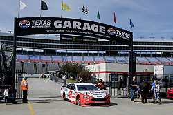 November 2, 2018 - Fort Worth, TX, U.S. - FORT WORTH, TX - NOVEMBER 02: Monster Energy NASCAR Cup Series driver Brad Keselowski (2) drives through the garage area during practice for the AAA Texas 500 on November 02, 2018 at the Texas Motor Speedway in Fort Worth, Texas. (Photo by Matthew Pearce/Icon Sportswire) (Credit Image: © Matthew Pearce/Icon SMI via ZUMA Press)