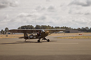 L-4J Grasshopper returning from flight at Warbirds Over the West.