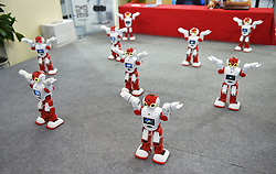 September 5, 2017 - Shenyan, Shenyan, China - Shenyang, CHINA-1st September 2017:(EDITORIAL USE ONLY. CHINA OUT)..Robots dance at a science and technology expo in Shenyang, northeast China's Liaoning Province, September 1st, 2017. (Credit Image: © SIPA Asia via ZUMA Wire)