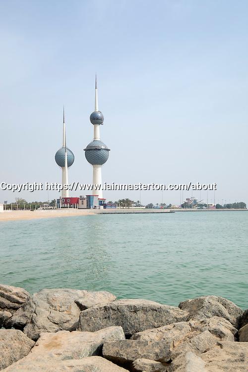 Kuwait Towers in Kuwait City, Kuwait.